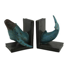 Pair of Beach Style Resin Dolphin L-Shaped Bookends