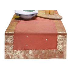 Rust - Hand Crafted Table Runner (India) - 14 X 84 Inches