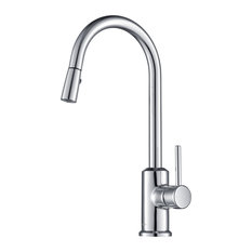 Brighton Kitchen Faucet Spray Head Gooseneck, Chrome