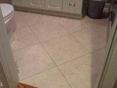 Show me your standard 5 x 8 hall bath floor tile