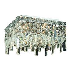 Elegant Lighting 2033F14C Maxim 5-Light 1 Tier Flush Mount Crystal Chandelier