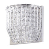 Visconte Brittany 1 Light Crystal Effect Wall Light, Chrome