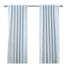 Best Home Fashion   Solid Thermal Insulated Blackout Curtains, Pair, Sky  Blue, 72