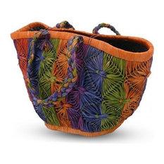 Serene Spaces Living Multiclor Cutaway Raffia Bag