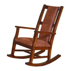1st Avenue   Prescott Rocker, Dark Chocolate   Rocking Chairs