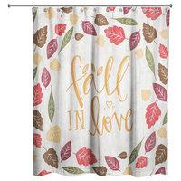 "Fall in Love Shower Curtain, 71""x74"""