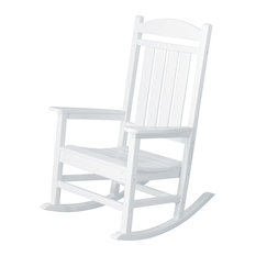 Poly-Wood LLC - Presidential Rocker White - Outdoor Rocking Chairs  sc 1 st  Houzz & 50 Most Popular Contemporary Outdoor Rocking Chairs for 2018 | Houzz