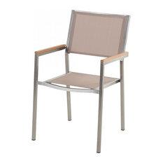 Grosseto Outdoor Dining Chair, Beige