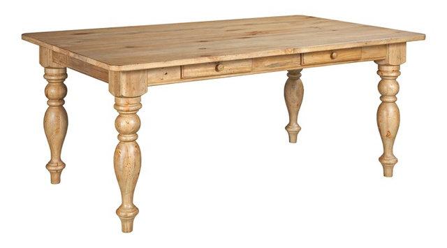 Kincaid Homecoming Solid Wood Farmhouse Leg Table Vintage Pine