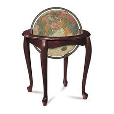 """Queen Anne 16"""" Antique Illuminated Floor Globe"""