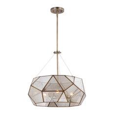 Euclid 20 in. W 3 Light Pendant Aged Brass by Vaxcel International P0317 in Bra