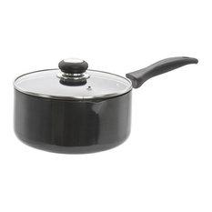 Hard Anodised Saucepan With Lid, 20 cm