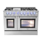"""48"""" Free Standing Professional Double Oven Gas Range,, Propane Gas"""