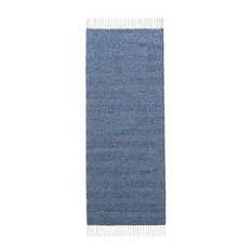 Maja Blue Vinyl Floor Cloth, 150x250 cm