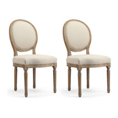 Darcy French-Style Dining Chairs, Set of 2, Graywash
