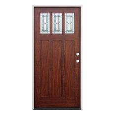 Exterior Pre-Hung Prefinished Door, Mahogany, Left Hand