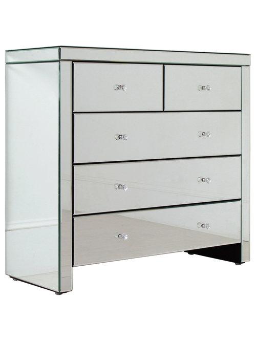 contemporary mirrored furniture. Countess Mirrored Drawer - Dressers Contemporary Furniture