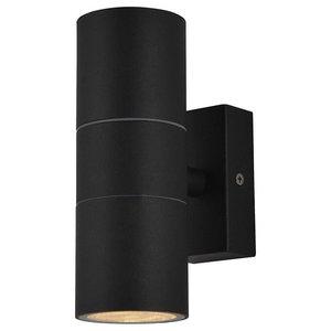 Kenn Outdoor Twin Wall Light, Black