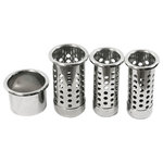 POJJO - POJJO, Premium Stainless Steel Ventilated & Capped Tube Insert Sets - Store your hair tools while they are hot in safe stainless steel ventilated capped tools that are designed to get rid of heat, rather than house it. Your set includes: