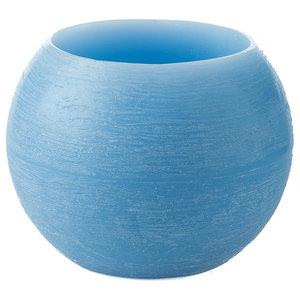 Paraffin Eternity Candle Bowl, Soft Blue, Set of 2