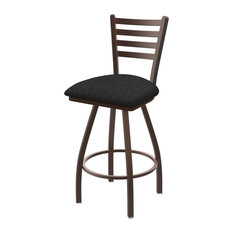 XL 410 Jackie 25 Swivel Counter Stool with Bronze Finish and Graph Coal Seat