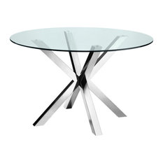 Bella Dining Table, Polished Stainless Steel