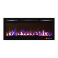 """Lexington 35"""" Built-in Recessed Wall Mounted Electric Fireplace Multi-Color"""