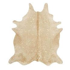 of santa fe beige and gold devore cowhide rug novelty rugs - Cow Hide Rugs