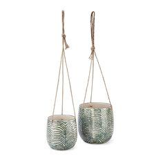 Kaveri Hanging Ceramic Planters, Set of 2
