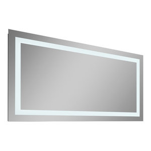"Lavva Contemporary Illuminated LED Bathroom Mirror, 36"""