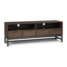 Banting Mid Century Low TV Stand, Walnut Brown