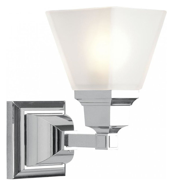 Chrome bathroom sconce transitional bathroom vanity lighting chrome bathroom sconce audiocablefo
