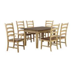 Sunset Trading 7 Piece Brook Rectangular Extendable Dining Set