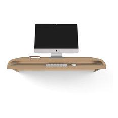 Minimal Wall Desk Designed by Dario Antonioni, Rift Oak, Large