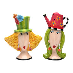 Garden Lady Salt and Pepper Shakers, Set of 2