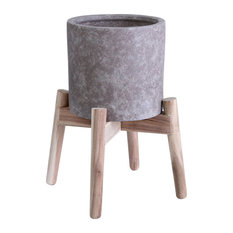 Lost Dutchman Vase in Castle Grey With Natural