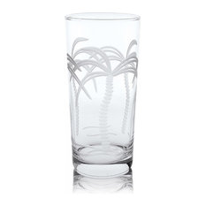 Palm Tree Cooler Glass 15oz, Set of 4
