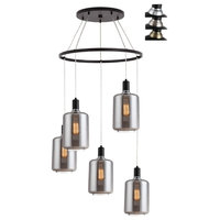 Woodbridge Lighting Blake 5-Light Pendant Chandelier with ST64 Bulb