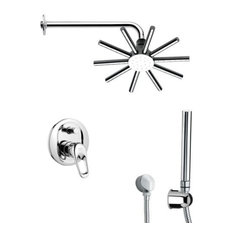 Nameeks SFH6549 Remer Single Handle Shower System Faucet, Chrome