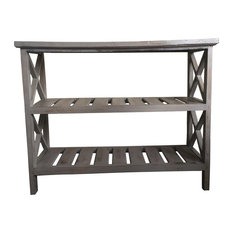 Wooden Console Table, 3 Shelves