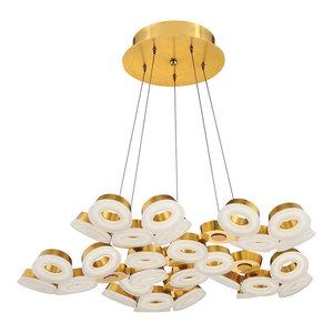 Glendale 30-Light LED Chandelier, Gold