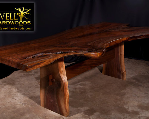 Live Edge Black Walnut Slab Table By Jewellhardwoods.com