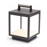 LED table lamp Cube for outdoors, rechargeable