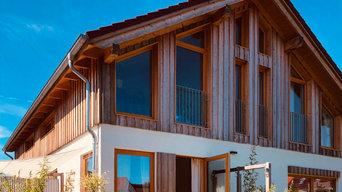 Neubau eines ökologischen Mehrfamilienhauses