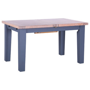 Extendable Dining Table, Dark Grey