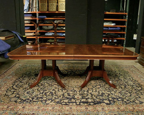 Long High End American Made Mahogany Dining Room Table (LH 1)