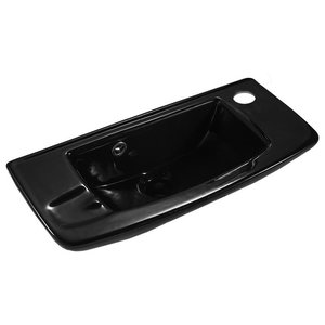 Wall Mount Bathroom Sink Black Grade A China With Overflow