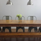 Industrial Style Dining Table - Eclectic - Dining Room ...