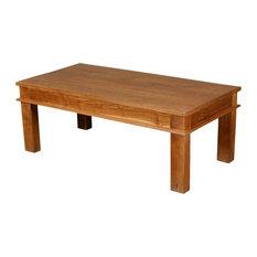 sierra living concepts 48 solid teak wood danish rustic coffee table coffee tables - Teak Wood Coffee Tables