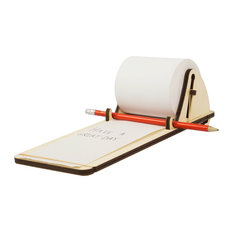 Fency Plywood Notepad Shelf With 2 Notepads
